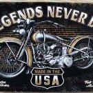 Motorcycle vintage home decor UA-0051 metal Tin signs