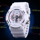 0966 LED Sports Watch Dual Time +Luminous Stopwatch Alarm Waterproof Watch