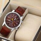 Fashion Leisure Business Men Leather Strap Watch