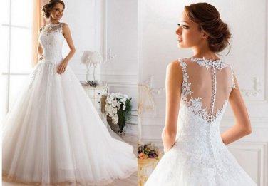 Elegant Chiffon+Maxi Design Wedding Dresses Custom-Made Bridal Gown Vestido de/Size available