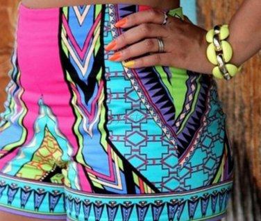 New Summer Retro Design Women High Waist Shorts