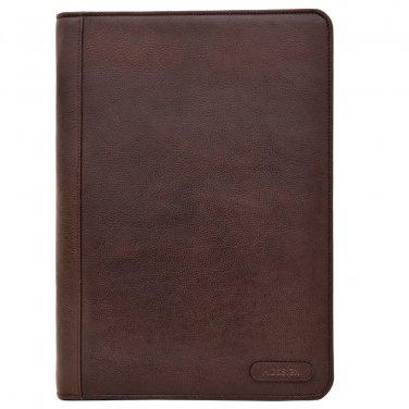 Hidesign Charles Portfolio/Padfolio with Handmade Paper Notebook Brown
