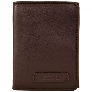 Hidesign Charles Classic Trifold Wallet with ID Compartment Brown