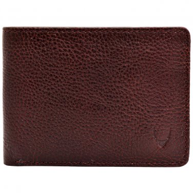 Hidesign Giles Vegetable Tanned Leather Wallet with Coin Pocket Brown