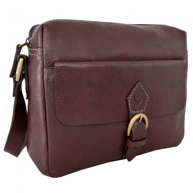 Hidesign Giles Casual Leather Messenger Brown