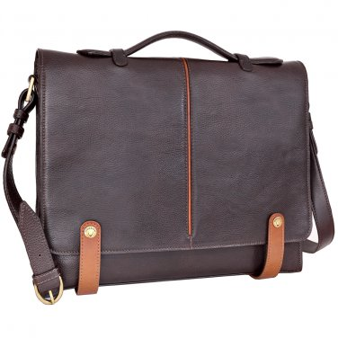 Hidesign Eton Slim Briefcase Brown