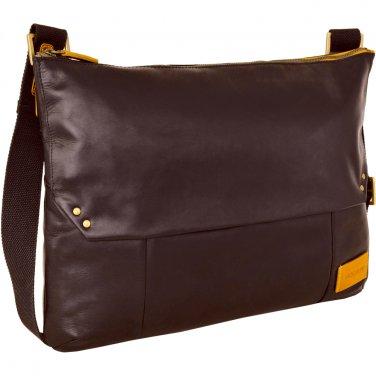 Hidesign Dylan Trendy Unlined Messenger Bag Brown