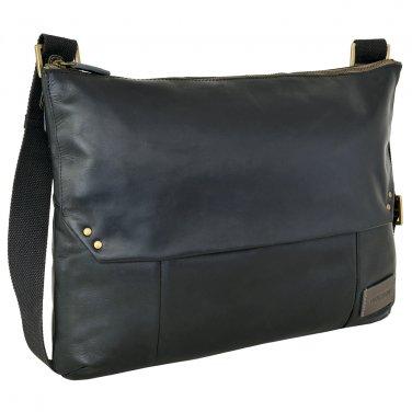 Hidesign Dylan Trendy Unlined Messenger Bag Black