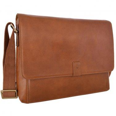 """Hidesign Aiden 15 """" Laptop Compatible Messenger Bag Tan"""