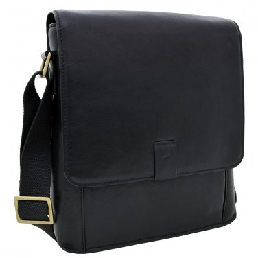 Hidesign Aiden Medium Crossbody Messenger Black