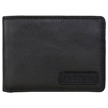 Hidesign Charles Classic Wallet with Coin Pocket Black