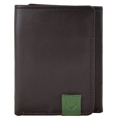 Hidesign Dylan Trifold Wallet with ID Compartment Black