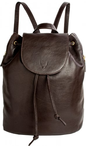 Hidesign Leah Leather Backpack Brown