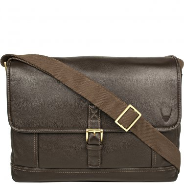 Hidesign Hunter Leather Messenger Brown