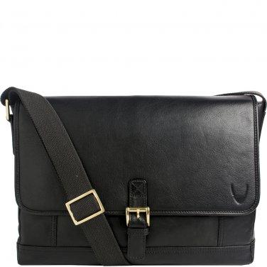 Hidesign Hunter Leather Messenger Brown Black