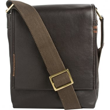 Hidesign Seattle Unisex Leather Crossbody Messenger Brown