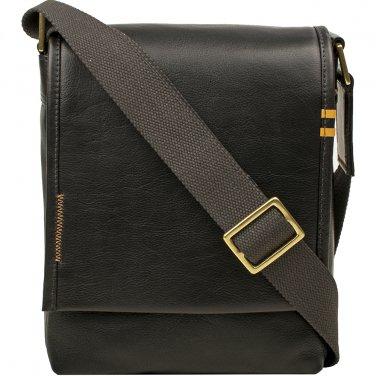 Hidesign Seattle Unisex Leather Crossbody Messenger Black
