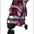 NEW! Dr. Fish's Pet Gear Folding Pink Pet Stroller 2 cup holder FREE SHIPPING!