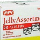 PPI JELLY & JAM ASSORTMENT 200 CT. .5 OZ. RESTAURANT CONCESSION