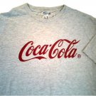 FREE SHIPPING COCA COLA T SHIRT LARGE GRAY 99% COTTON 1% POLYESTER