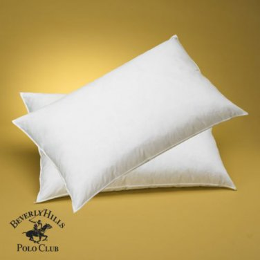 Beverly Hills Polo Club 95 Feather 5 Down Pillow 400t ct Made in USA FREE SHIPP