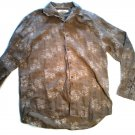 SALE! TOMMY BAHAMA MEN'S SHIRT MED. BROWN LONG SLEEVE LINEN FREE SHIPPING!