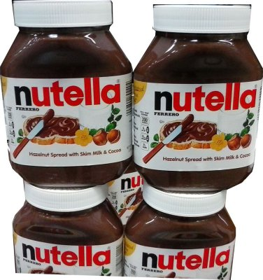 NUTELLA LARGE 35.3 OZ JAR GLUTEN FREE HAZELNUT SPREAD FREE SHIPPING!