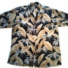 SALE! TOMMY BAHAMA MEN'S SHIRT MED. SILK BLACK TROPICAL HAWAIIAN FREE SHIPPING