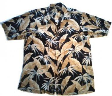 SALE! TOMMY BAHAMA MEN'S SHIRT MED. SILK BLACK TROPICAL HAWAIIAN FREE SHIPPING