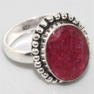 Fine Faceted Ruby 925 Silver Ring US Size 10 Gemstone Jewelry FREE SHIPPING!