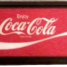 "LARGE COKE COCA COLA SIGN FRAMED LENS PLEXIGLASS 55"" X 22"" FREE SHIPPING!"