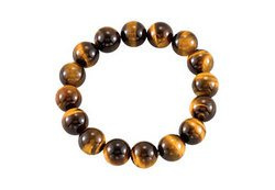 Genuine Tiger Eye Stretch Bracelet 12.00 X 12.00 MM with 6.50 INCH FREE SHIPPING