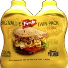 NEW! FRENCH'S MUSTARD TWIN PACK LARGE BOTTLES 60 OZ. TOTAL FREE SHIPPING!