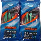 4WARD PIVOTING HEAD W/ 4 BLADES BY RELIASHAVE 6 DISPOSABLE RAZORS FREE SHIPPING!