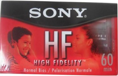 NEW LOT OF 8 SONY HF HIGH FIDELITY 60 MINUTE TAPES FREE SHIPPING