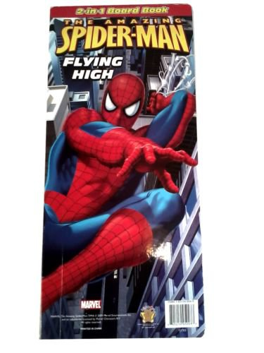 "NICE 2009 THE AMAZING SPIDER-MAN LARGE 2 IN 1 BOARD BOOK 17"" X 8"" X 1"""