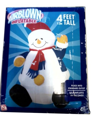 CHRISTMAS YARD LAWN DECOR INFLATABLE SNOWMAN 4' TALL FREE SHIPPING!