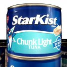 LARGE CAN STARKIST TUNA 65.5 OZ 4.15 LBS FREE SHIPPING!