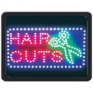 HAIR CUTS PROGRAMMED LED SIGN BEAUTY SALON BARBER SHOP FREE SHIPPING!