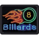 BILLARDS PROGRAMMED LED SIGN LIGHT BAR CLUB POOL ILLUMINATED FREE SHIPPING!