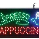 ESPRESSO, CAPPUCCINO w/Cup Programmed LED Sign Coffee Shop Store FREE SHIPPING!