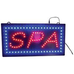 SPA PROGRAMMED LED SIGN SALON STORE BUSINESS LED LIGHTS FREE SHIPPING!