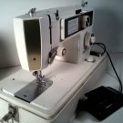 VINTAGE ELGIN SEWING MACHINE ZIG ZAG, PORTABLE WITH ORIGINAL CASE MODEL S-1145