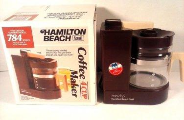 VINTAGE HAMILTON BEACH 784 4C '70'S ERA COFFEE MAKER BOX & PAPERS FREE SHIPPING!
