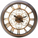 20.5 INCHES ROUND WALL CLOCK Die Cut Face Gilded Age Finish FREE SHIPPING!