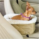 NEW FUN! Console Lookout Dog Car Seat Large/Grey Quilt PET RIDE SEAT