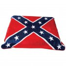 NEW CONFEDERATE FLAG PRINT BLANKET Fits queen or king bed FREE SHIPPING