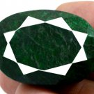 217 CT Big Huge Natural Oval Shape Green Emerald Gemstone FREE SHIPPING!