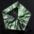 NICE! 4.9CT Natural American Cut Pentagon-Double Light Green Amethyst AMC775
