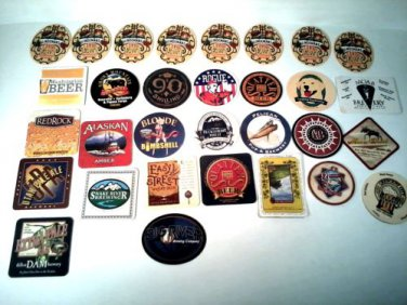 LOT OF 31 BAR BREWERY PUB BEER DRINK COASTERS ROCKY MOUNTAIN WEST STATES REGION